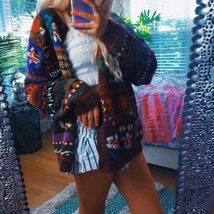 heirloom collective boho chunky embroidered cardi